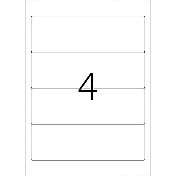 HERMA Etiketten, A4 - 192,0 x 61,0 mm, kurze Ordnerrücken, breit, weiß