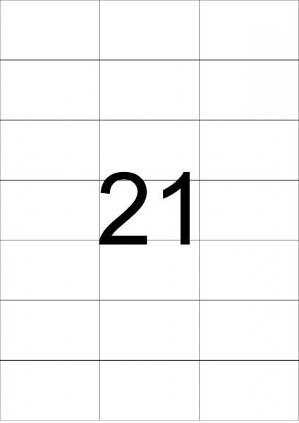 eza-print - A4,weiß - 70,0 x 42,3 mm, 500 Blatt