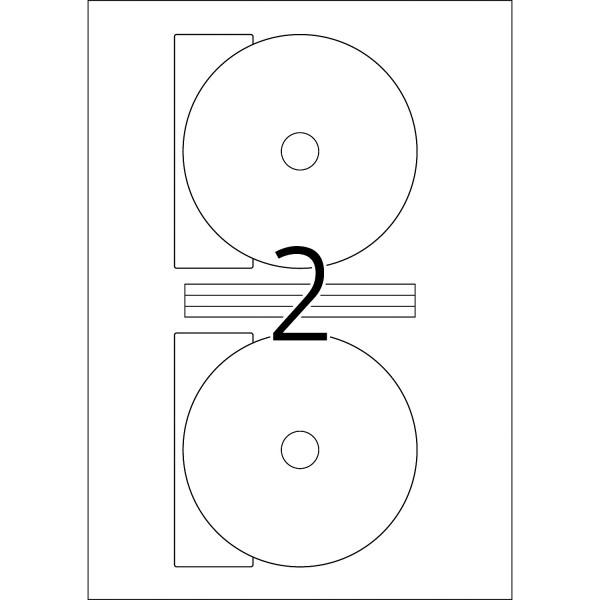 HERMA Etiketten, A4 - Ø 116 mm Maxi, 25 Blatt, weiß, Polyesterfolie, DVD / Blue-ray Etiketten