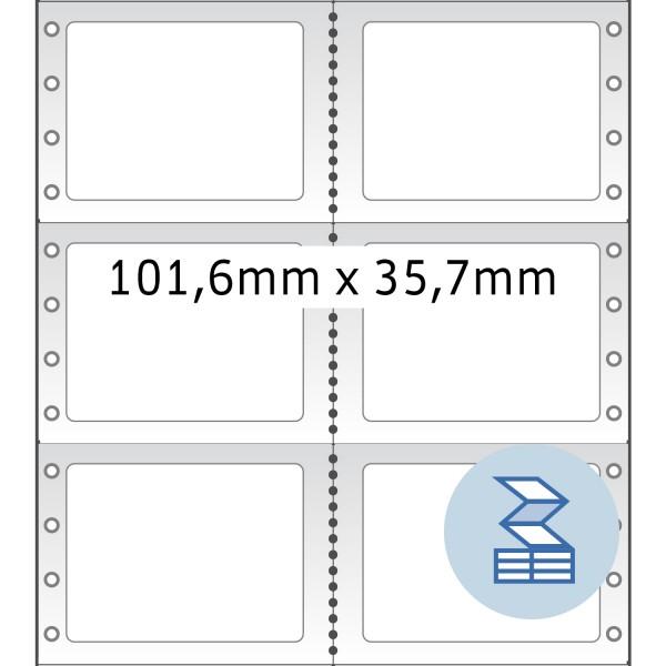 HERMA Lochrandetiketten, 101,60 x 35,70 mm, weiß