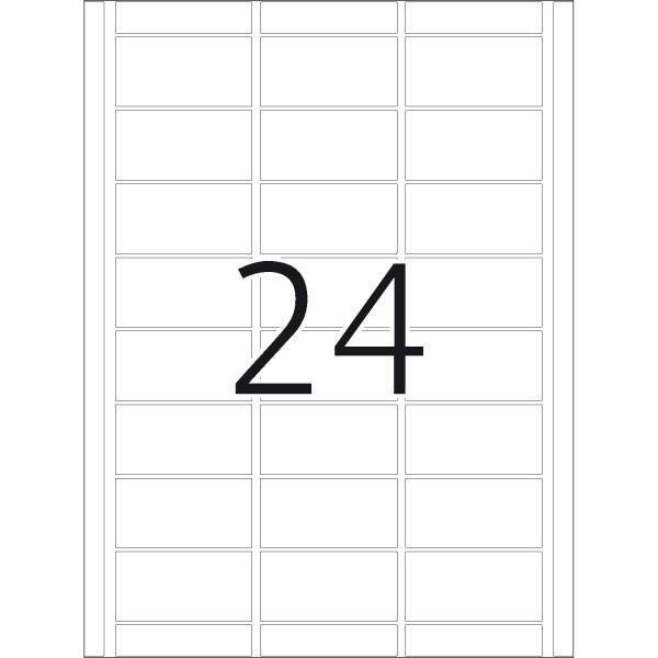 DP 4 Druckerpackung, weiß, 34 x 67 mm