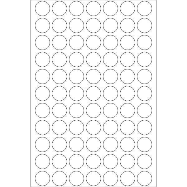 Herma Büropackung, weiß/farbig & leuchtfarben, 13 mm Ø, permanent haftend