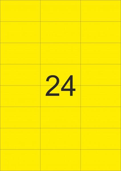 HERMA Etiketten, A4 - 70,0 x 37,0 mm, 100 Blatt, farbig
