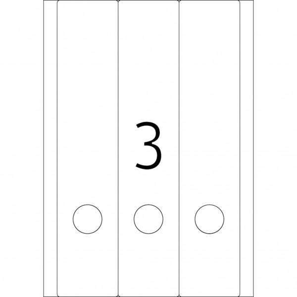 HERMA Special Inkjet, A4 - 61,0 x 297,0 mm, Ordneretiketten, weiß