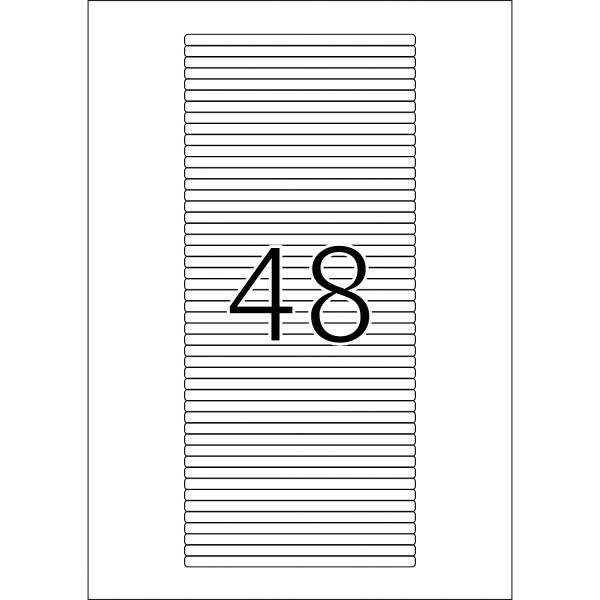 HERMA Etiketten, A4 - 114,3 x 5,5 mm, 25 Blatt, weiß, CD-Cover-Etiketten
