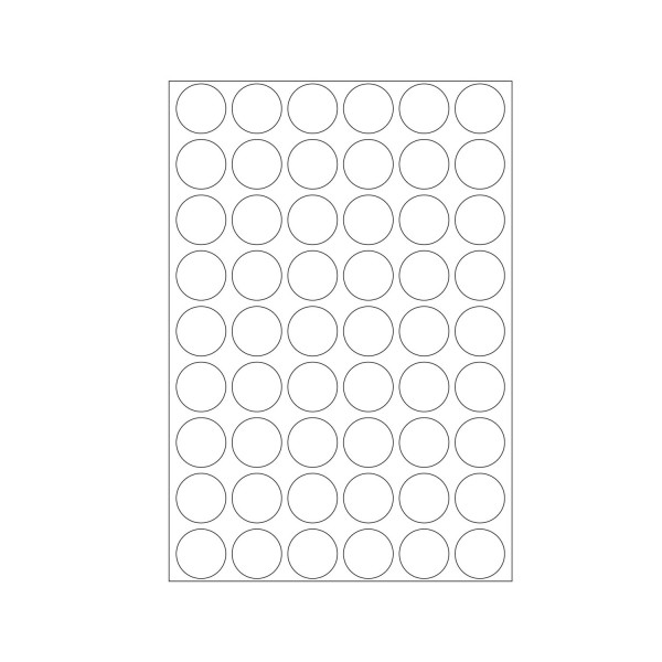 Herma Büropackung, weiß, 16 mm Ø, permanent haftend