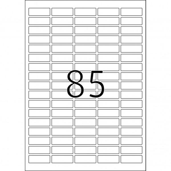 HERMA Etiketten, A4 - 37,0 x 13,0 mm, 25 Blatt, weiß