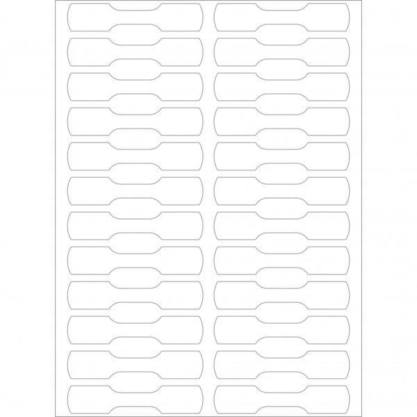 Herma Büropackung, Ringetiketten, weiß, 10 x 49 mm, permanent haftend