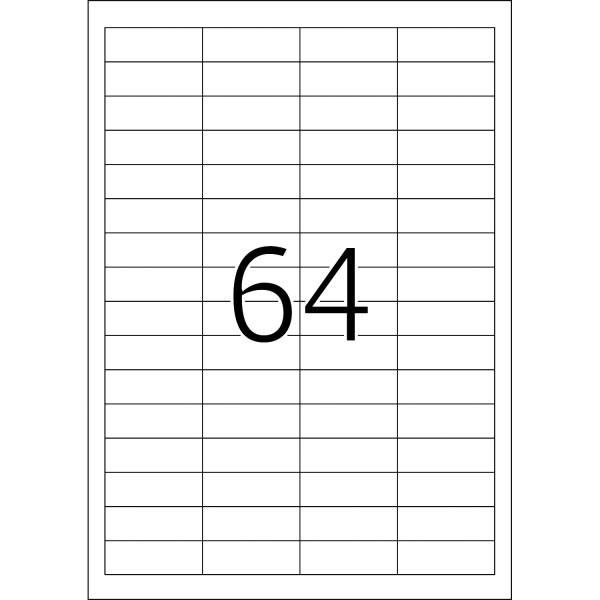 HERMA Etiketten, A4 - 48,3 x 16,9 mm, 25 Blatt, Abdeckpapier, weiß, blickdicht