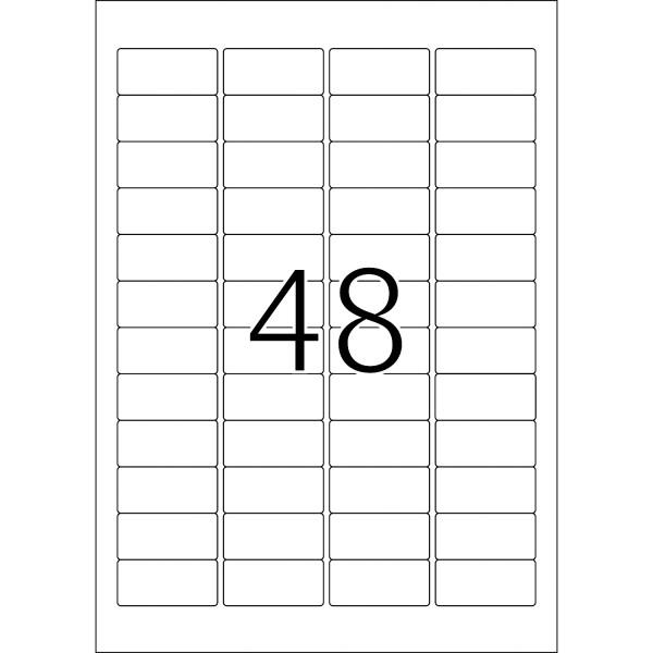 HERMA Etiketten, A4 - 45,7 x 21,2 mm, Polyesterfolie silber matt