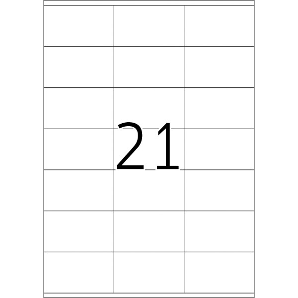 HERMA Etiketten, A4 - 70,0 x 41,0 mm, 100 Blatt, weiß