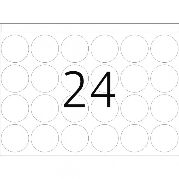 DP 1 Druckerpackung, weiß, 25 mm Ø