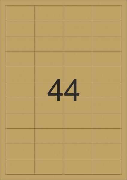 HERMA Etiketten, A4 - 48,3 x 25,4 mm, gold, Polyesterfolie glänzend