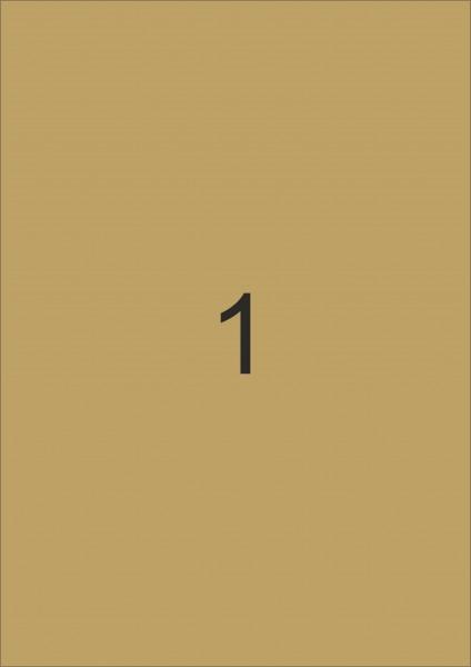 HERMA Etiketten, A4 - 210,0 x 297,0 mm, gold, Polyesterfolie glänzend