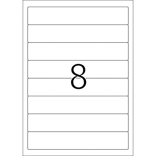 HERMA Etiketten, A4 - 192,0 x 34,0 mm, kurze Ordnerrücken, schmal, weiß