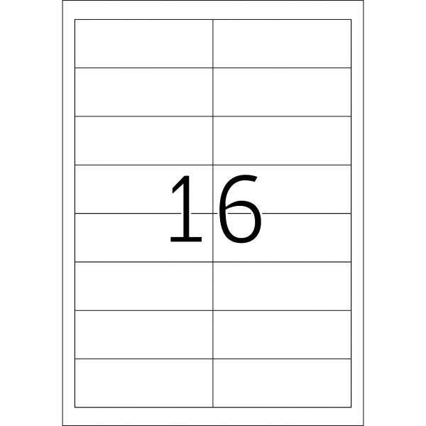 HERMA Etiketten, A4 - 97,0 x 33,8 mm, 100 Blatt, weiß