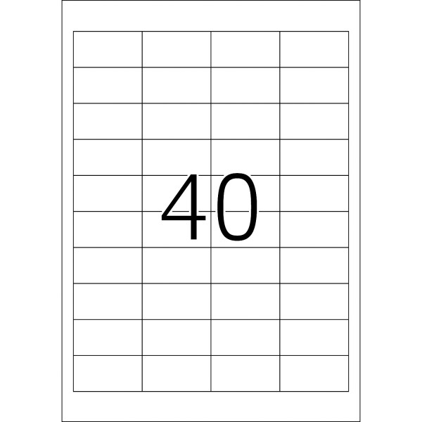 HERMA Etiketten, A4 - 48,5 x 25,4 mm, 100 Blatt, weiß