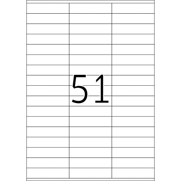 HERMA Etiketten, A4 - 70,0 x 16,9 mm, 100 Blatt, weiß