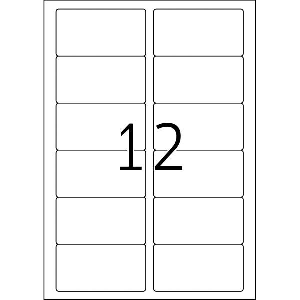 HERMA Etiketten, A4 - 88,9 x 46,6 mm, 100 Blatt, weiß, Movables ®, ablösbar