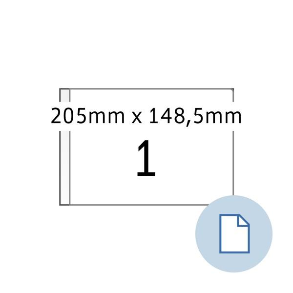 Data-Print, Etiketten, A4 weiss, 147 x 205, DIN A5