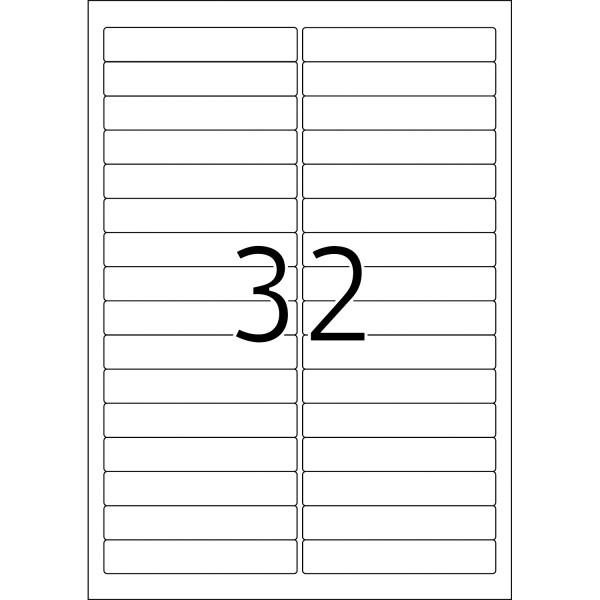 HERMA Etiketten, A4 - 96,0 x 16,9 mm, 25 Blatt, weiß, Movables ®, ablösbar