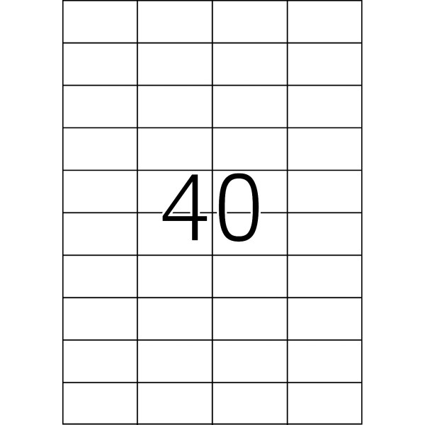 HERMA Etiketten, A4 - 52,5 X 29,7 mm, Polyesterfolie transparent matt