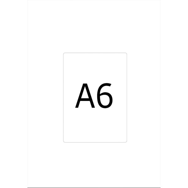 HERMA Etiketten, A6 - 105,0 x 148,0 mm, 800 Blatt, weiß