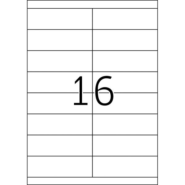 HERMA Etiketten, A4 - 105,0 x 33,8 mm, 100 Blatt, weiß