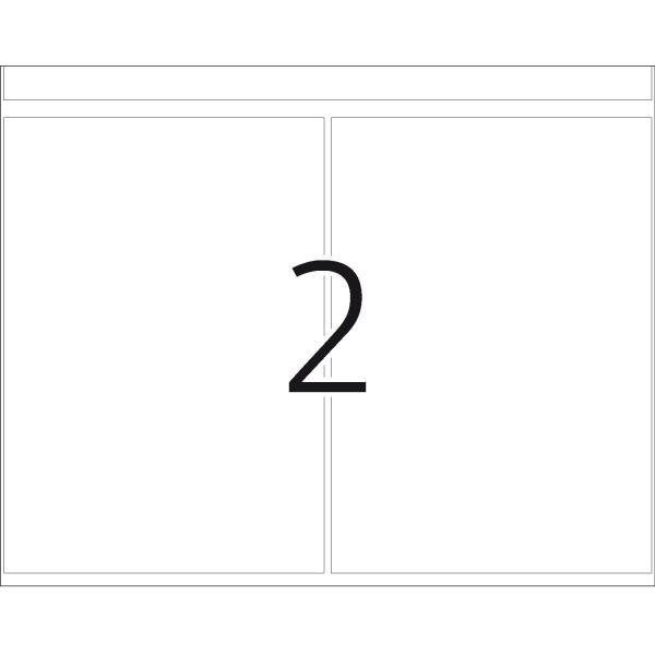 DP 1 Druckerpackung, weiß, 74 x 105 mm