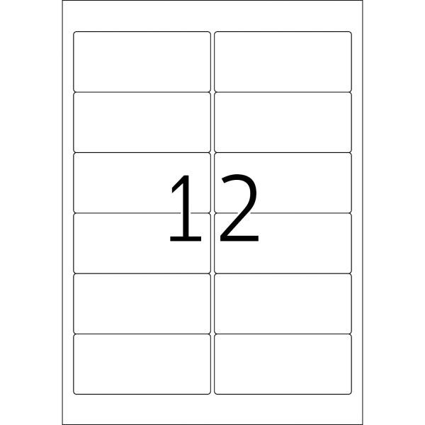 HERMA Special, A4 - 96,0 x 42,3 mm, 25 Blatt, weiß, Movables ®, ablösbar