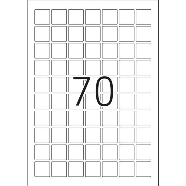HERMA Etiketten, A4 - 24,0 x 24,0 mm, 25 Blatt, Polyesterfolie weiß matt, wetterfest