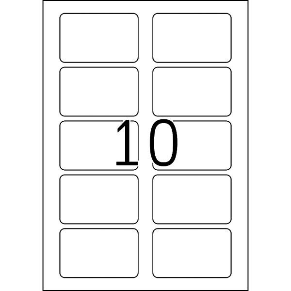 HERMA Etiketten, A4 - 80,0 x 50,0 mm, 10 Blatt, weiß, Namensschild, Acetatseide, trennbar
