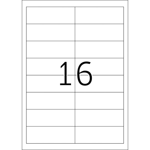HERMA Special Inkjet, A4 - 97,0 x 33,8 mm, weiß