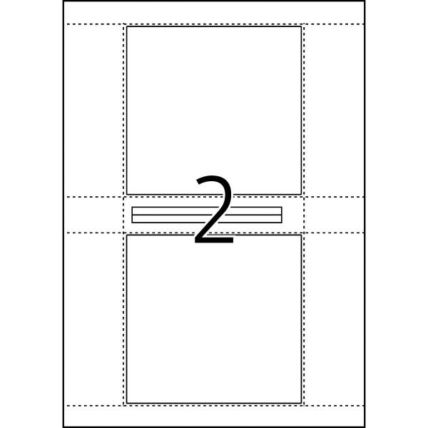 HERMA Etiketten, A4 - 121,5 x 117,5 mm, 25 Blatt, weiß, CD-Cover-Etiketten