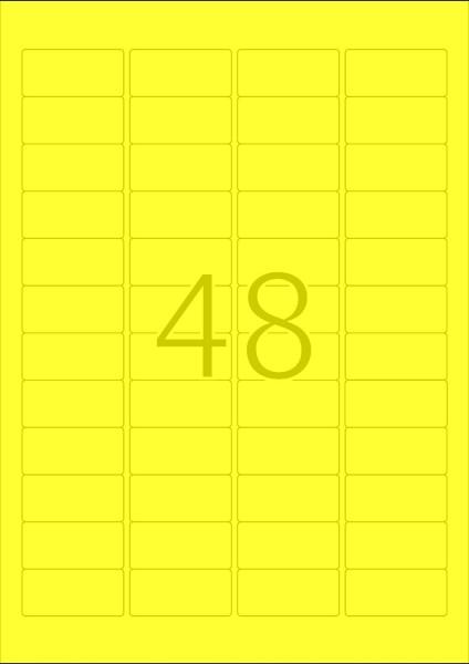 HERMA Etiketten, A4 - 45,7 x 21,2 mm, 20 Blatt, farbig
