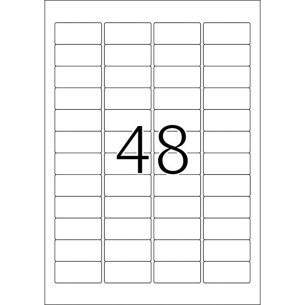 HERMA Etiketten, A4 - 45,7 x 21,2 mm, 25 Blatt, weiß, Movables ®, ablösbar