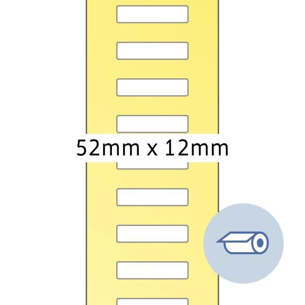 HERMA Rollen-Etiketten, Thermotransfer, 52 x 12 mm, weiß seidenmatt
