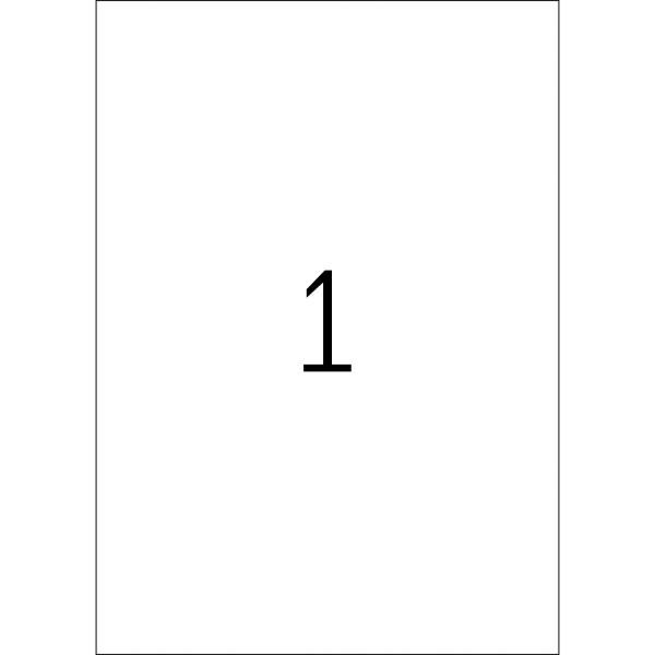 HERMA Etiketten, A4 - 210,0 x 297,0 mm, Polyethylenfolie weiß matt, Outdoor-Folie