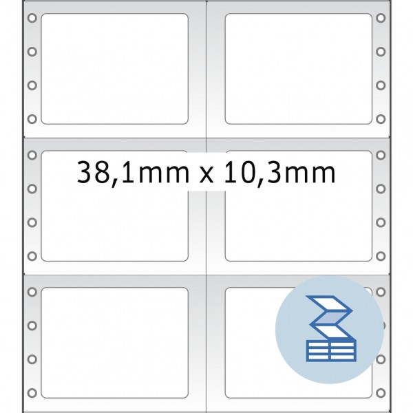 HERMA Lochrandetiketten, 38,10 x 10,30 mm, weiß