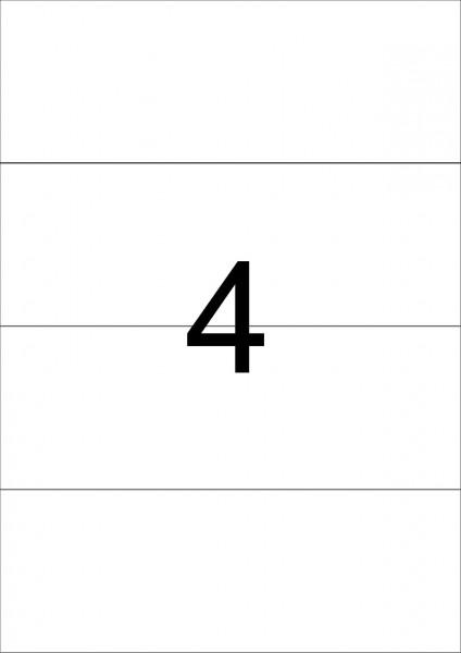 eza-print - A4, weiß - 210,0 x 74,25 mm, 500 Blatt