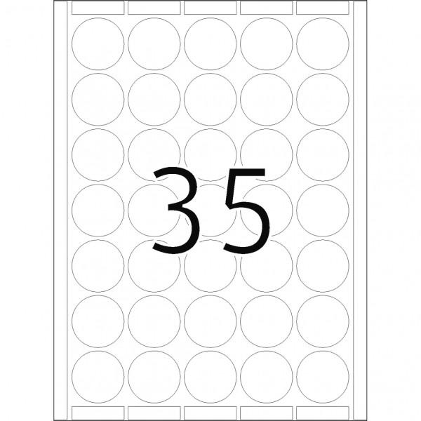 DP 4 Druckerpackung, weiß, 40 mm Ø