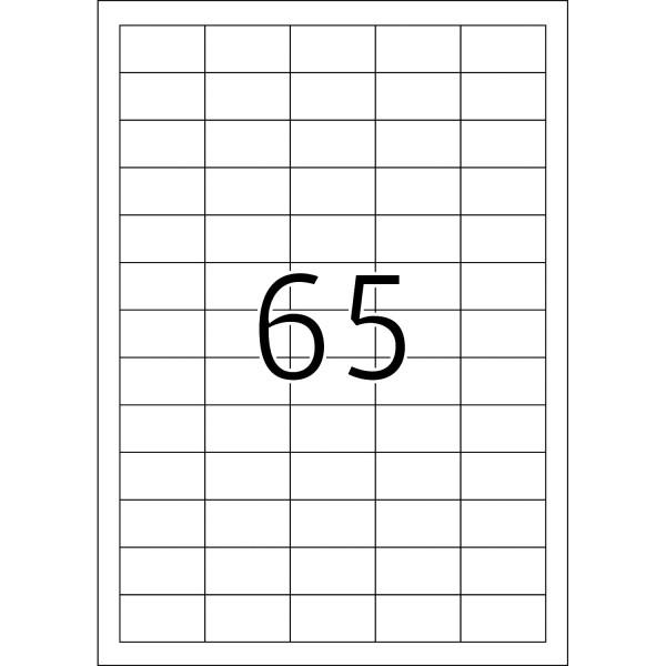 HERMA Etiketten, A4 - 38,1 x 21,2 mm, 25 Blatt, weiß, Movables ®, ablösbar