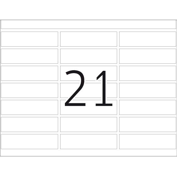 DP 1 Druckerpackung, weiß, 13 x 50 mm