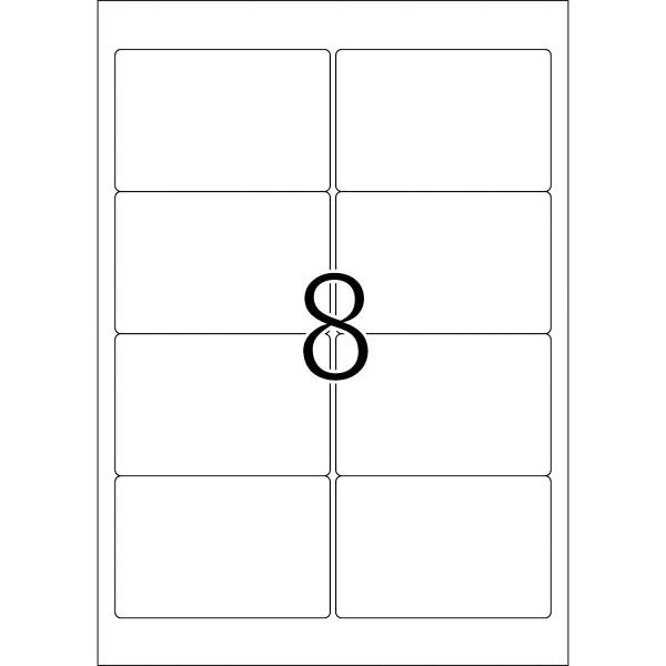 HERMA Etiketten, A4 - 96,0 x 63,5 mm, 25 Blatt, weiß, Movables ®, ablösbar