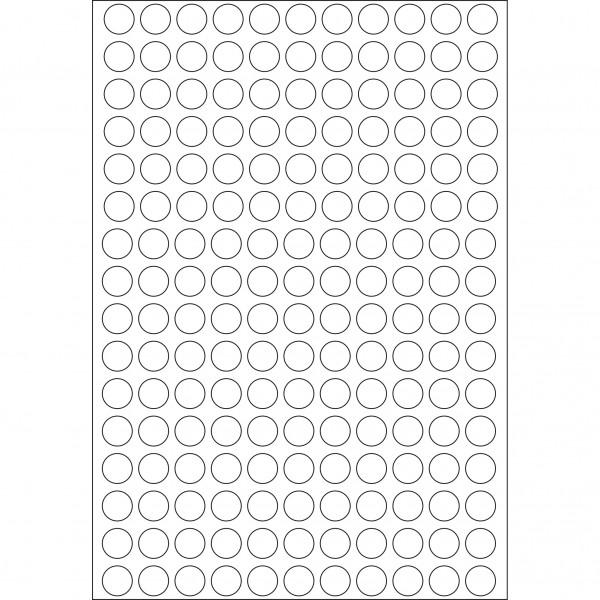 Herma Büropackung, weiß / farbig, 8 mm Ø, permanent haftend