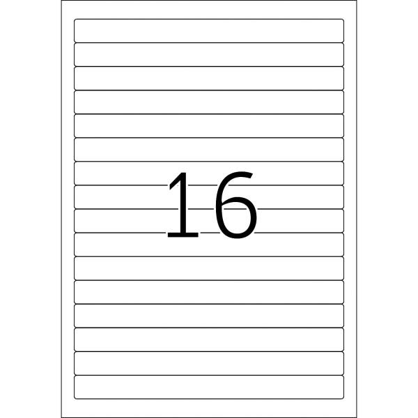 HERMA Etiketten, A4 - 192,0 x 16,9 mm, kurze Ordnerrücken, schmal, weiß