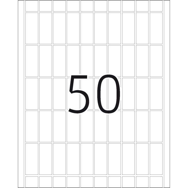 DP 4 Druckerpackung, weiß, 20 x 50 mm