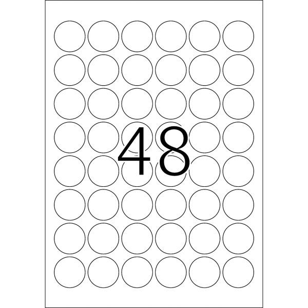 HERMA Special, A4 - Ø 30 mm, 25 Blatt, weiß, Movables ®, ablösbar