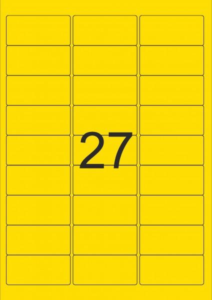 Herma Etiketten A4 - 63,5 x 29,6 mm, neon versch. Farben, permanent haftend