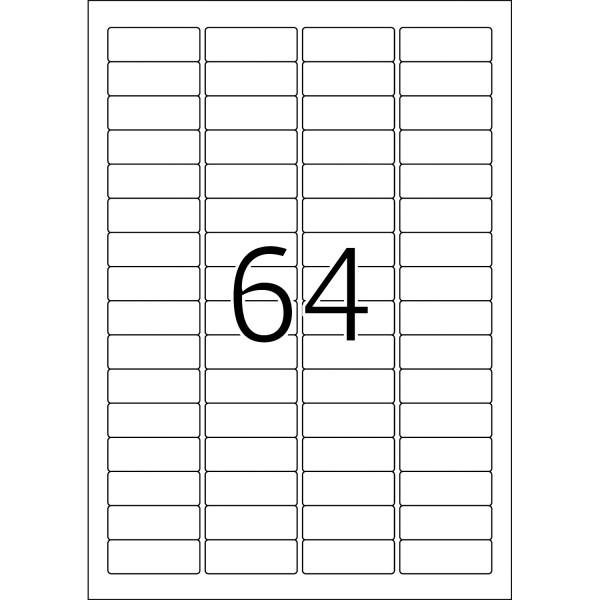 HERMA Etiketten, A4 - 45,7 x 16,9 mm, 25 Blatt, weiß, Movables ®, ablösbar, Sichtreiter-Etiketten